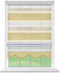Doppelrollo Rom, beige, ca. 80 x 160 cm