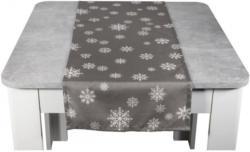 Tischläufer Schneeflocke anthrazit 40 x 140 cm