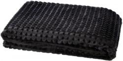 Flanelldecke Checks schwarz 150 x 200