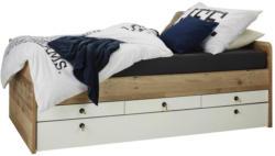 Bett in Eichefarben Old Style