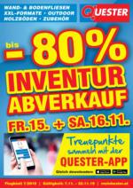Quester Flugblatt 07.11. bis 22.11. Fliesen Graz