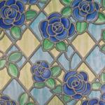Möbelix Glasdekorfolie Blumen Mosaik
