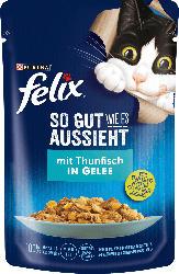 Felix Nassfutter für Katzen, Adult, So gut wie es aussieht mit Thunfisch
