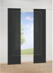 Schiebevorhang Uni, schwarz, ca. 60 x 245 cm