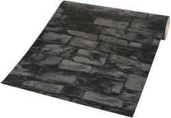 Vinyltapete Stein schwarz mit Glitzer