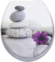 MDF-WC-Sitz Motiv Stones