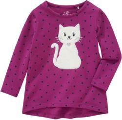 Mädchen Sweatshirt mit Katzen-Applikation