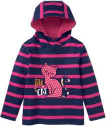 Mädchen Sweatshirt mit Katzen-Motiv