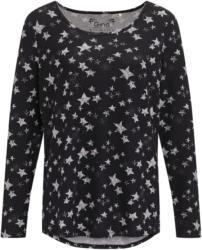 Damen Langarmshirt mit Sternen-Print