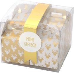 6 Mini-Geschenkboxen mit Band