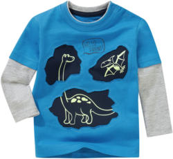 Baby Langarmshirt mit Glow-in-the-Dark-Effekt