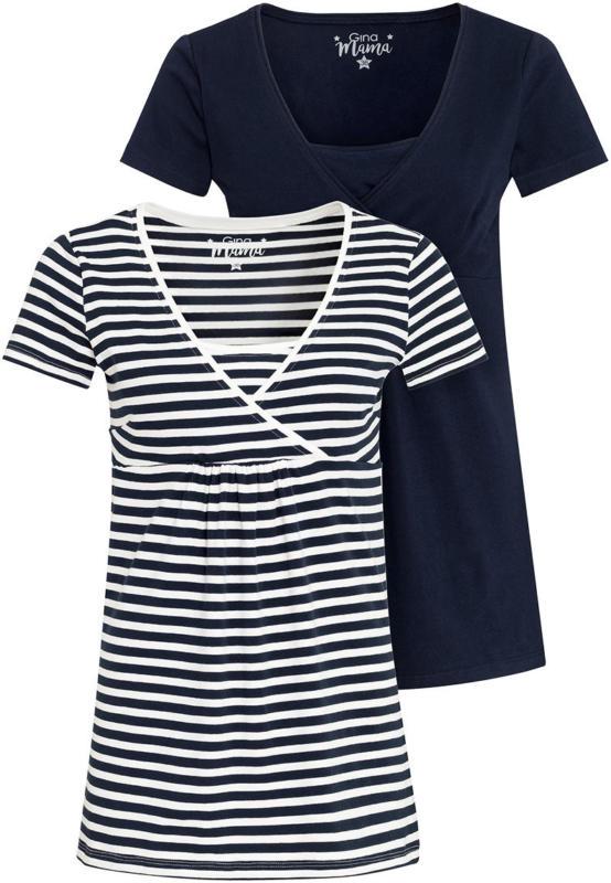 2 Damen Umstands-T-Shirt mit Stillfunktion