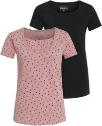 2 Damen Umstands-T-Shirts mit Stillfunktion
