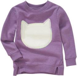 Mädchen Sweatshirt mit Plüsch-Applikation