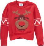 Ernsting's family Kleinkinder Strickpullover im Weihnachts-Look