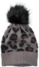 Damen Strickmütze mit Leoparden-Muster