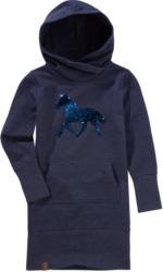 Mädchen Sweatkleid mit Pferde-Motiv