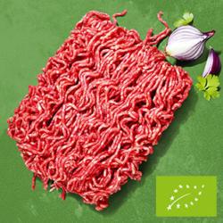 Frisches Bio Rinderhackfleisch jede = 350-g-SB-Packung