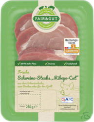 Fair & Gut Schweine Steaks