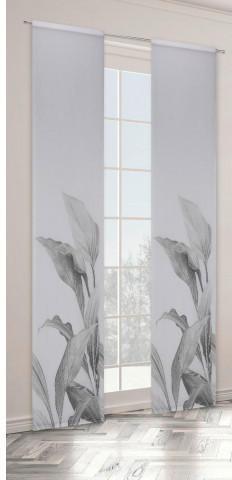 Schiebevorhang Branca, schwarz, ca. 60 x 245 cm