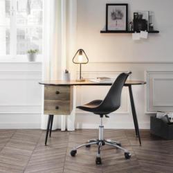 Schreibtisch in Eiche/Schwarz 130/60/72 cm 'Kara'