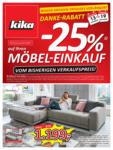 kika Möbel kika - DANKE RABATT! Jetzt sparen! - gültig bis 25.11. - bis 25.11.2019