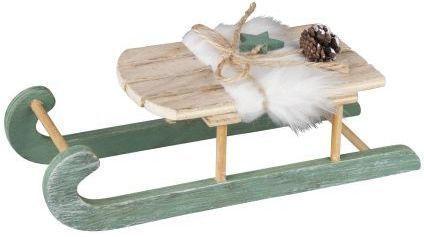 Deko-Schlitten aus Holz - 24 x 9,5 x 7 cm