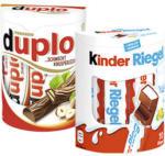 real Ferrero Duplo oder Kinder Riegel 10er, jede 182/210-g-Packung - bis 23.11.2019