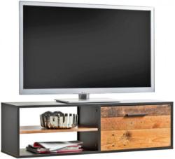 TV-Lowboard Max anthrazit/Plank-Eiche-Nachbildung