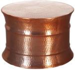 Möbelix Couchtisch Rund aus Aluminium Karam, Kupferfarben