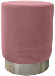 Sitzhocker Samt ø ca. 35cm rosa/silber