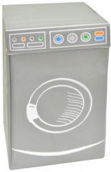 Wäschebox Motiv Waschmaschine anthrazit