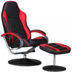 Möbelix Relaxsesselset Sporting B: 69 cm Schwarz/Rot Rot, Schwarz