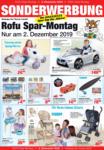 ROFU Kinderland Sonderwerbung Spar-Montag - bis 02.12.2019