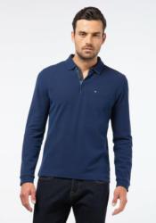 Pierre Cardin Longsleeve Poloshirt mit Bicolor-Struktur »0«