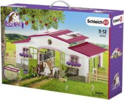 Schleich Reiterhof m. Reiterin + Pferde - Spielset - 42344