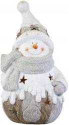 Windlicht - Schneemann - aus Terrakotta - 17 x 15 x 32 cm