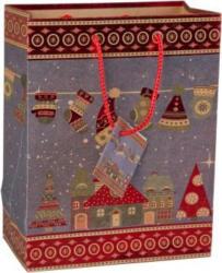 Geschenktasche - Weihnachtsdorf - 26 x 32,5 x 12,5 cm