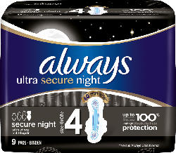 always Binden Ultra Secure Night