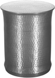 Beistelltisch mit Sockelfuß Tarun Silberfarben