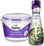 real Rama Cremefine zum Verfeinern, zum Kochen oder zum Aufschlagen, jeder 200-g-Becher/jede 250-ml-Flasche - bis 07.12.2019