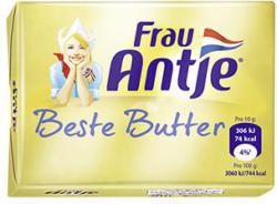 Frau Antje Beste Butter jede 250-g-Packung