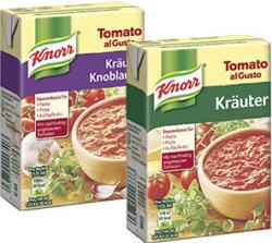 Knorr Tomato al Gusto versch. Sorten, jede 370-g-Packung