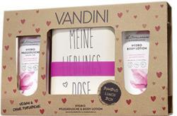 Vandini Geschenkset Dusche 200ml/ Lotion 200ml mit Bambusbecher oder Bambusbox Je Set