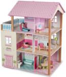 ROFU Kinderland Holz-Puppenhaus 3-stöckig mit Möbeln - bis 20.09.2020