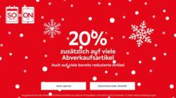 -20% zusätzlich auf viele Abverkaufsartikel
