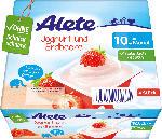 dm-drogerie markt Alete Joghurtbecher Joghurt und Erdbeere ab 10. Monat, 4x100g