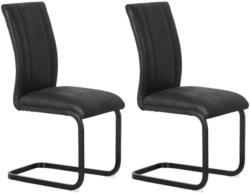 Stuhl-Set Mila 2-er Set Schwarz