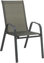 Stapelsessel In Metall, Textil Grau