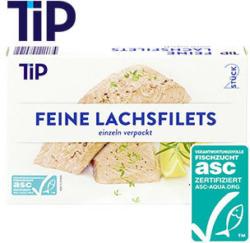 Feine Lachsfilets gefroren, jede 2 x 125 g = 250-g-Packung